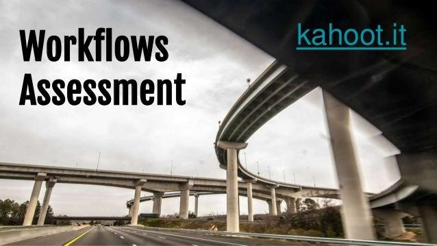 Workflows Assessment kahoot.it
