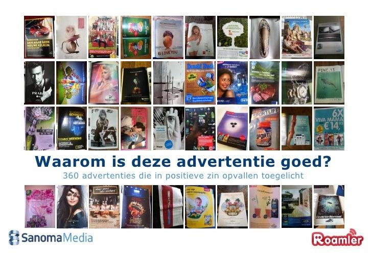 Waarom is deze advertentie goed?   360 advertenties die in positieve zin opvallen toegelicht