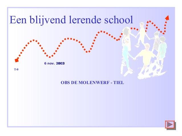 Een blijvend lerende school  6 nov. 2003 T-0  OBS DE MOLENWERF - TIEL