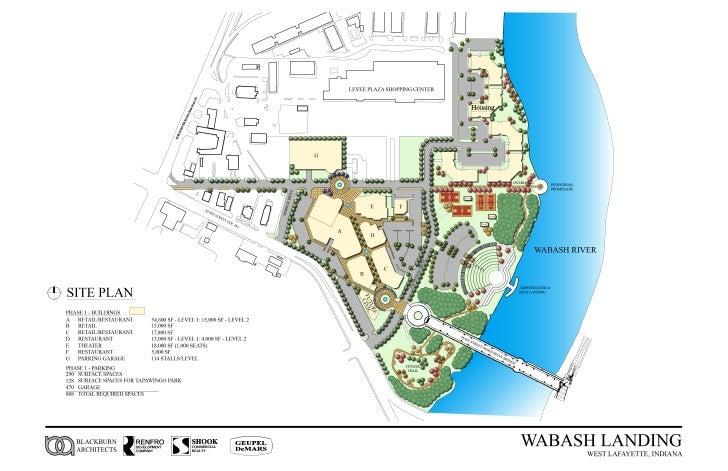 Wabash Landing Site Plan