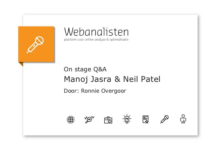 On stage Q&AManoj Jasra & Neil PatelDoor: Ronnie Overgoor