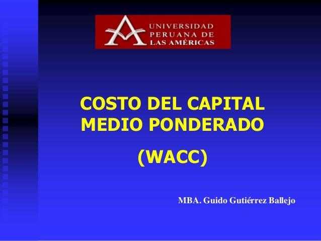 Wacc 2 for Costo medio del soffitto a cassettoni