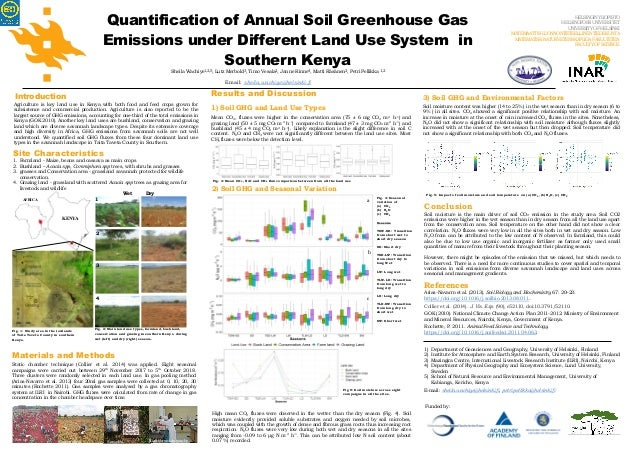 AFRICA KENYA Quantification of Annual Soil Greenhouse Gas Emissions under Different Land Use System in Southern Kenya Shei...