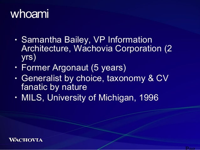 Wachovia Redesign: An Exploration of Challenges 2003 Slide 2