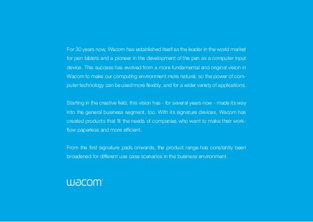 Wacom Business Solutions - signature image brochure