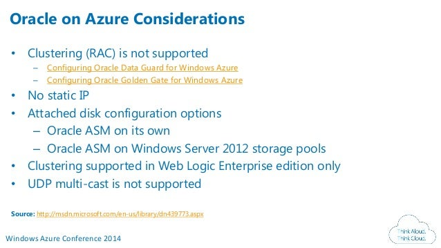 Oracle On Azure At Windows Azure Conference 2014