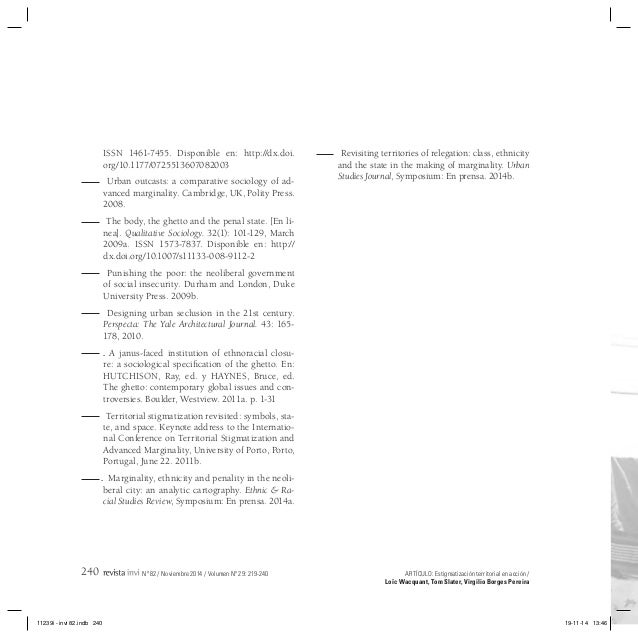 wacquant thesis eleven 1999-10-8 social citizenship and workfare in the united states and  thesis eleven, vol 122, issue  you will be asked to authorise cambridge core to connect with your.