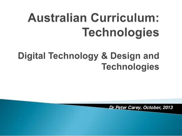 Dr Peter Carey, October, 2013