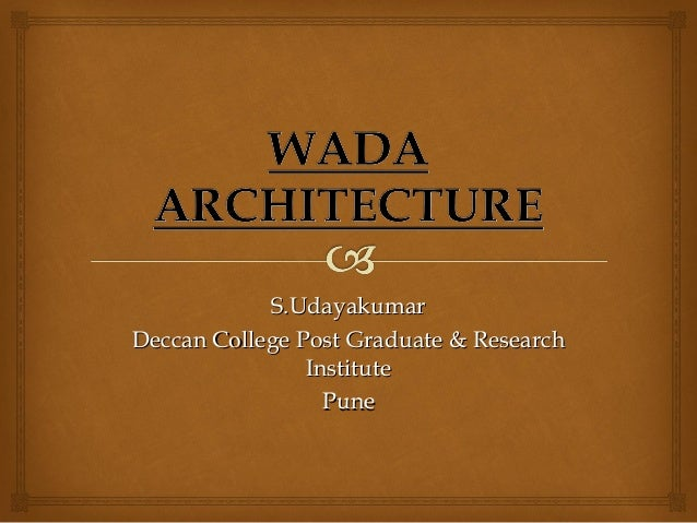 S.UdayakumarS.Udayakumar Deccan College Post Graduate & ResearchDeccan College Post Graduate & Research InstituteInstitute...