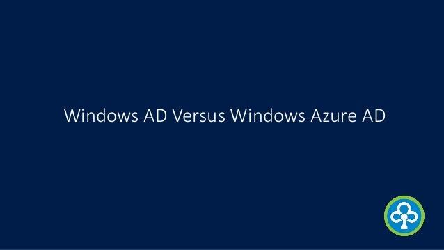 Windows AD Versus Windows Azure AD
