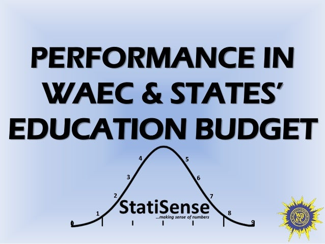 PERFORMANCE IN  WAEC & STATES'  EDUCATION BUDGET