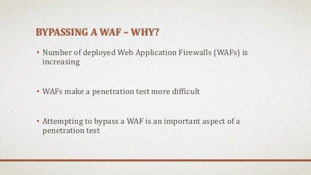 Обход файрволов веб-приложений Slide 2