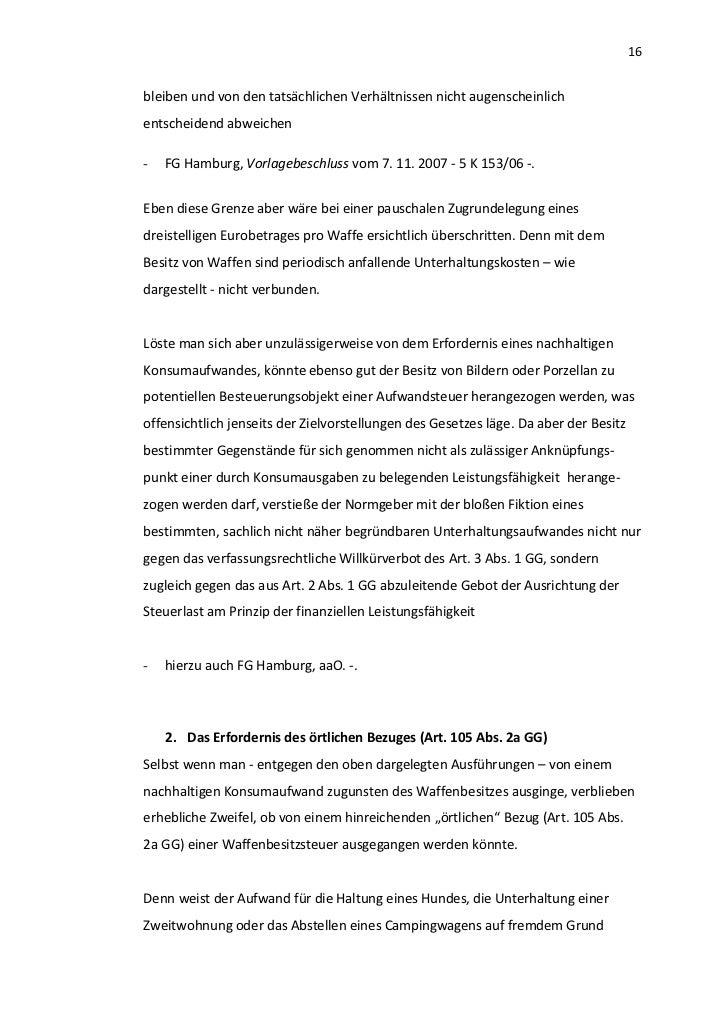 16bleiben und von den tatsächlichen Verhältnissen nicht augenscheinlichentscheidend abweichen-   FG Hamburg, Vorlagebeschl...
