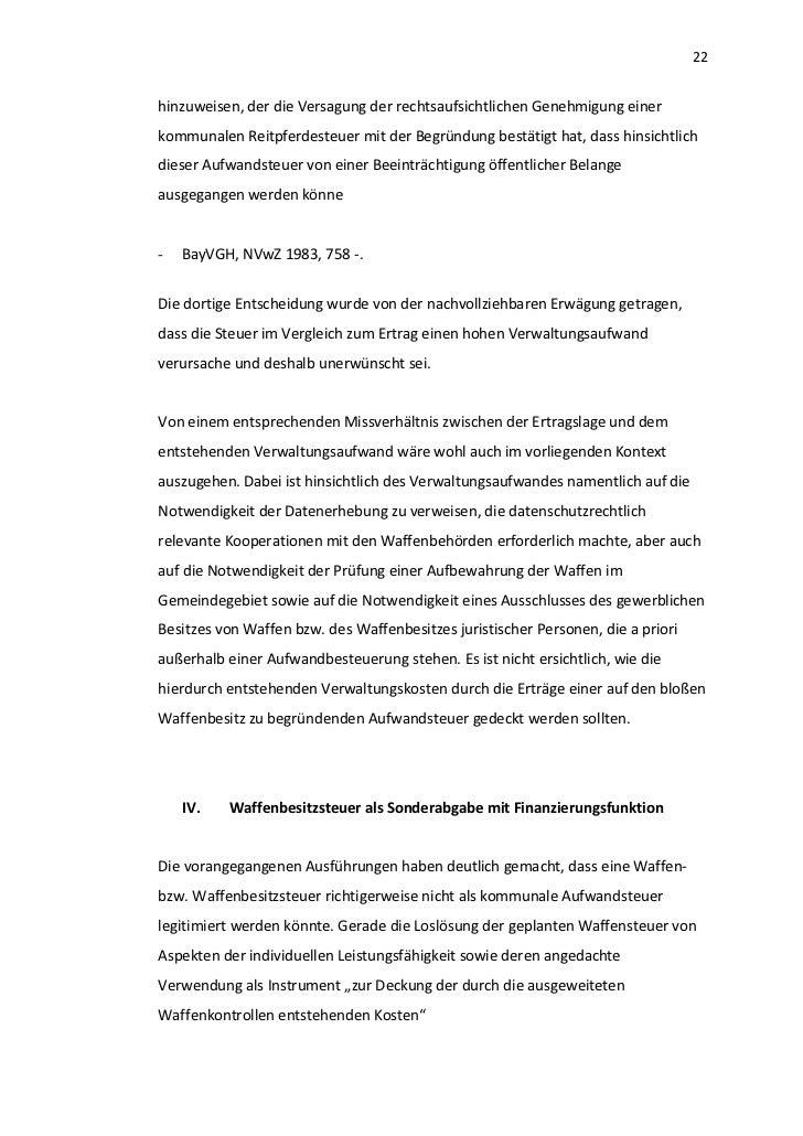 22hinzuweisen, der die Versagung der rechtsaufsichtlichen Genehmigung einerkommunalen Reitpferdesteuer mit der Begründung ...