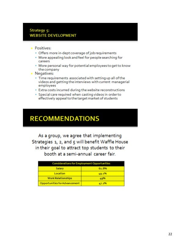 waffle house recruitment plan
