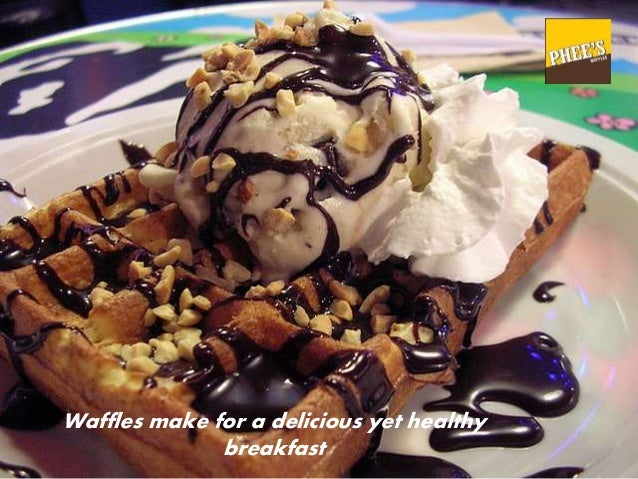 Waffles make for a delicious yet healthy breakfast