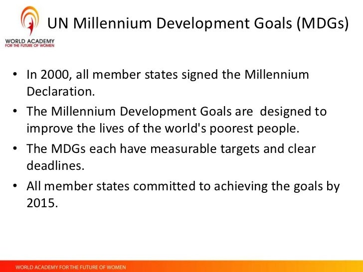 challenge of the millennium development goals The millennium development goals: key current issues and challenges article  in development policy review development policy.