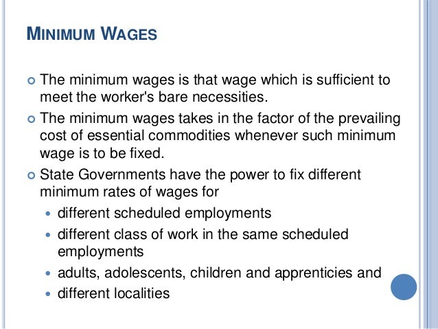 pros and cons of national minimum wage