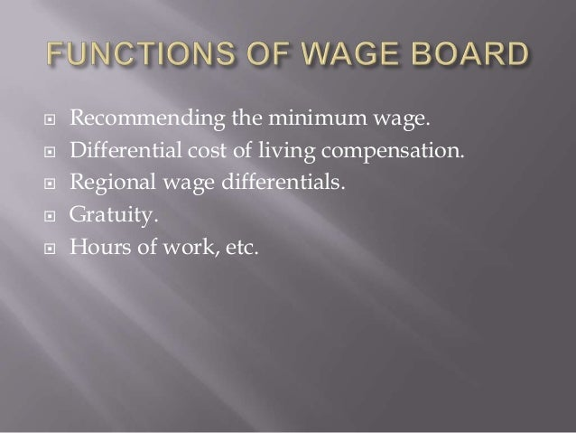 function of wage board