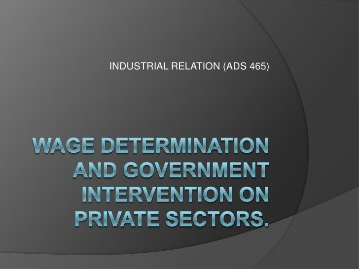 INDUSTRIAL RELATION (ADS 465)