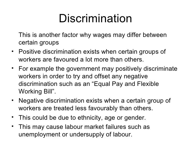wage differentials and wage discrimination Public discourse about wage gap or wage discrimination in finland is mostly gender-based -- but not only women are negatively affected by wage differentials between people doing the same kind of job for the same employer in finland.