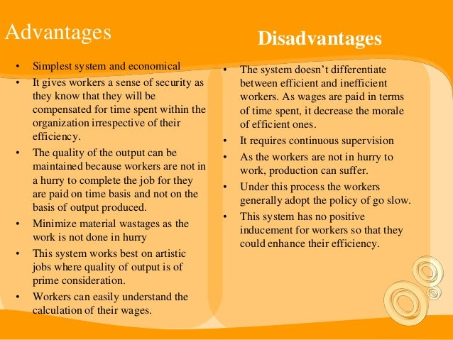 compensation advantages and disadvantages