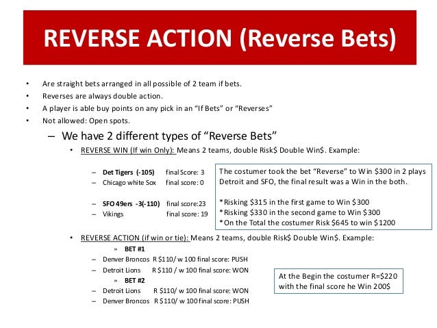 Double reverse betting world sports betting careers