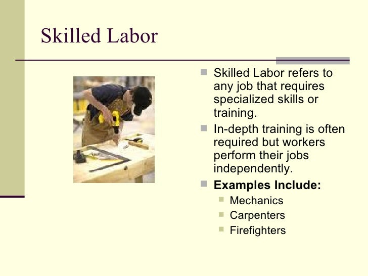Wages and Skill Level