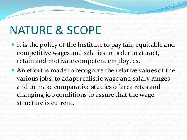 scope of compensation management