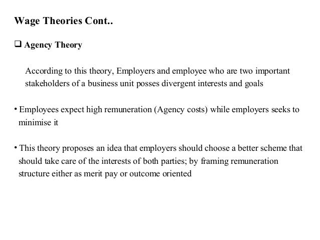 theories of employee remuneration The article looks beyond employee motivation tools  available motivation tools and theories of  tool for employee motivation is basic remuneration paid in.