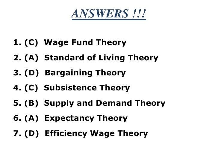 Wage theory !!! mod 1