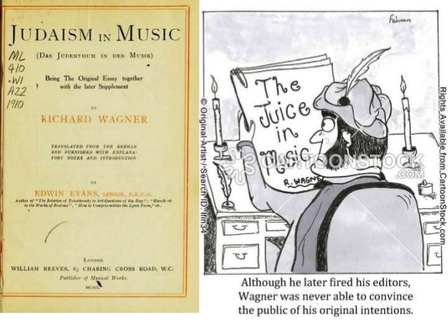 wagner anti semitic essay Can we forgive him richard wagner was a great composer  his essay das judentum in der musik  has traced anti-semitic images through the wagner canon.