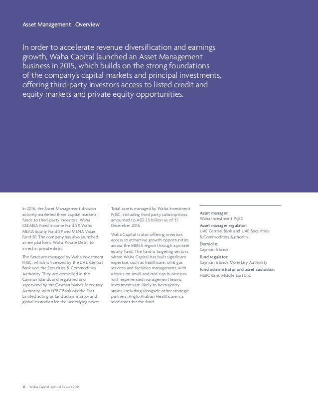 al waha Capital annual report 2016 design by www Prism-me com