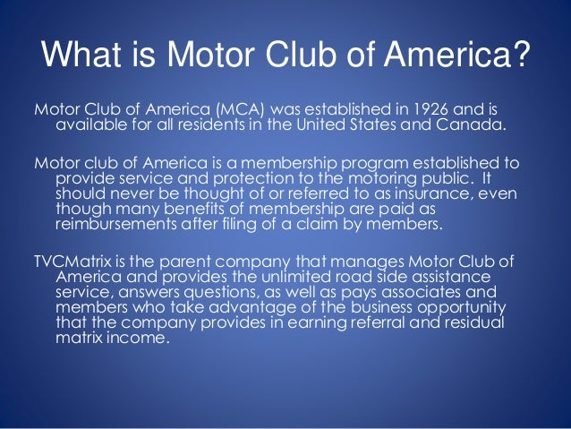 Mca motor club of america scam for Mca motor club of america scam