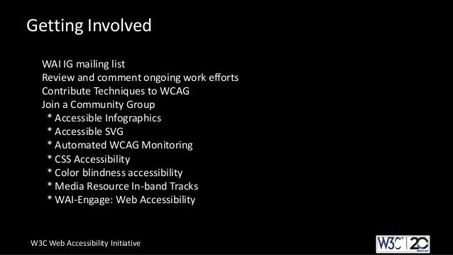 w3c guidelines for web development