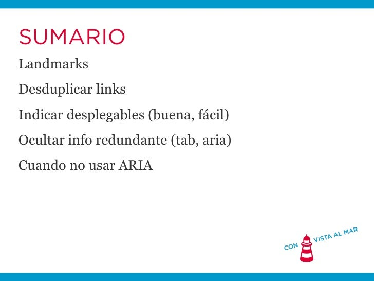 WAI-ARIA en 5 minutos Slide 2