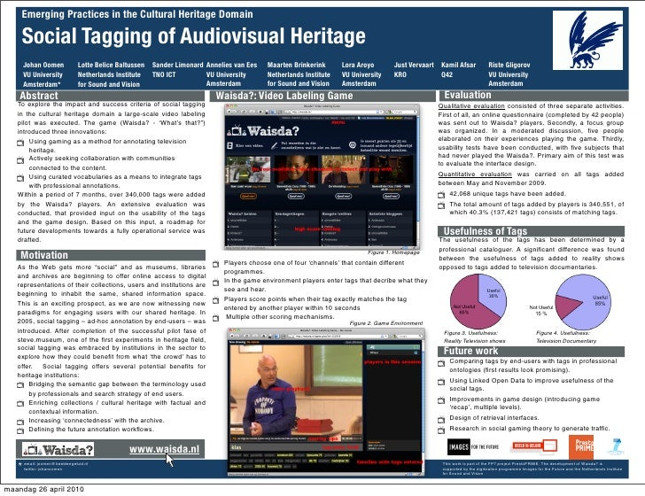 Emerging Practices in the Cultural Heritage Domain      Social Tagging of Audiovisual Heritage      Johan Oomen           ...