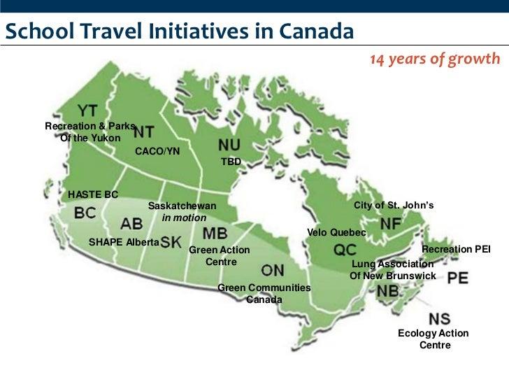 Active School Travel in Canada Slide 2