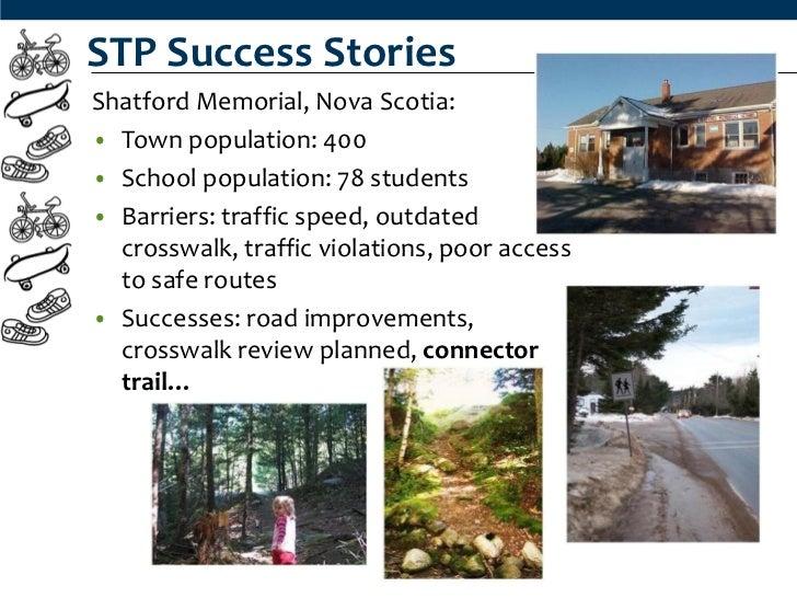 STP Success StoriesShatford Memorial, Nova Scotia:• Town population: 400• School population: 78 students• Barriers: traffi...