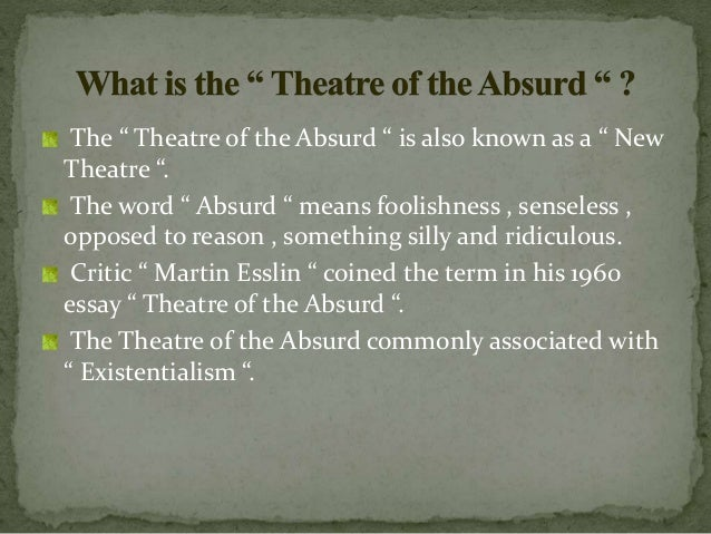theatre of the absurd essay questions