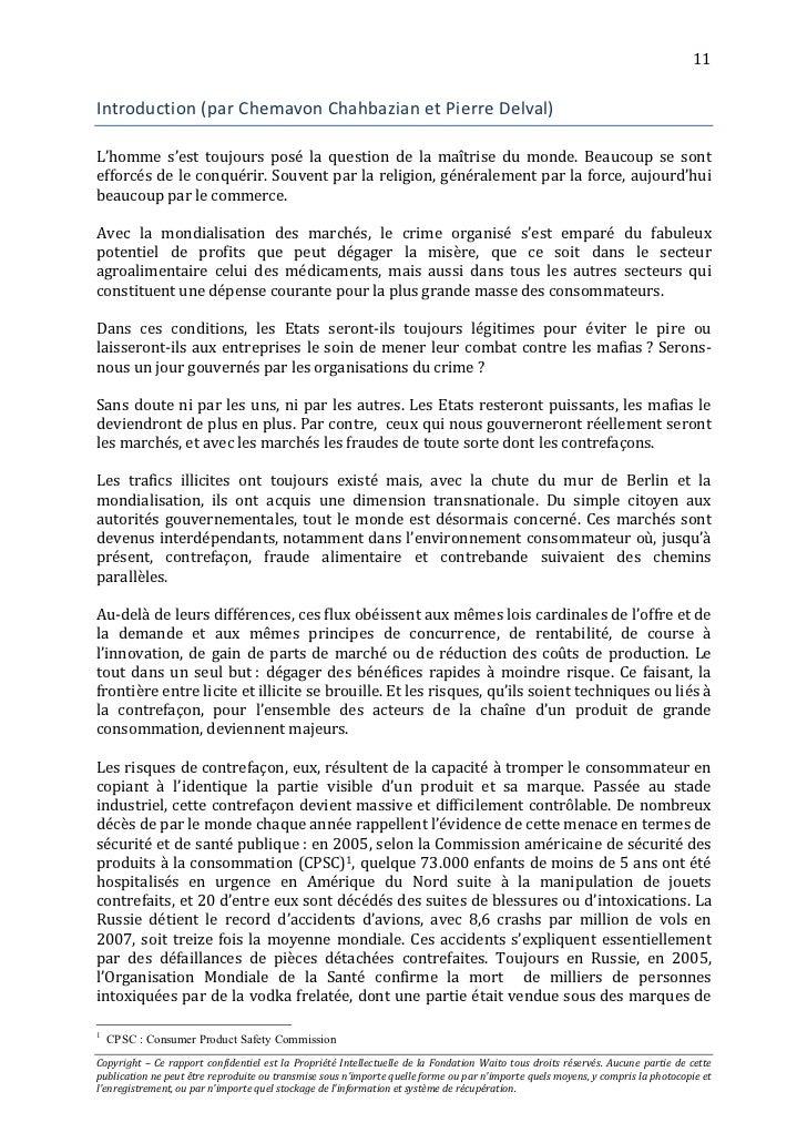 Waito Rapport 2011 Le Crime Contrefacon Un Enjeu Majeur border=