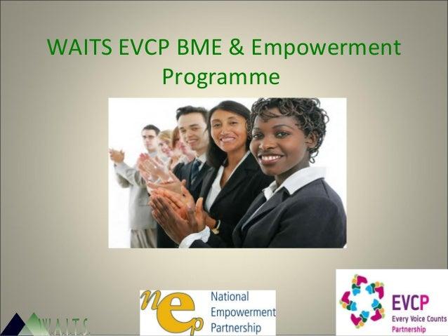 WAITS EVCP BME & Empowerment Programme