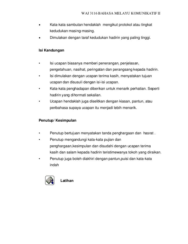 Waj3116 bahasa mealayu_komunikatif_ii