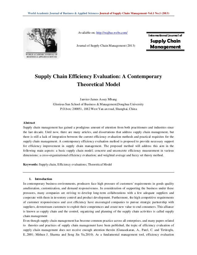 review and evaluate supply chain A popular method of assessing purchasing effectiveness is to review the inventory turnover ratios  supply chain management - how to.