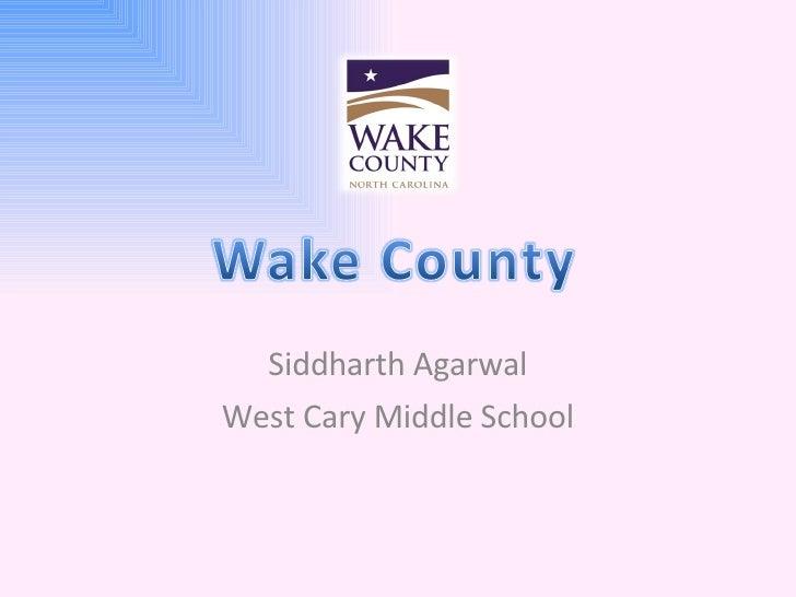 Siddharth Agarwal West Cary Middle School