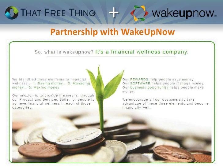 +Partnership with WakeUpNow