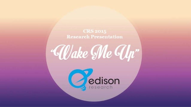 """""""Wake Me Up"""" CRS 2015 Research Presentation"""