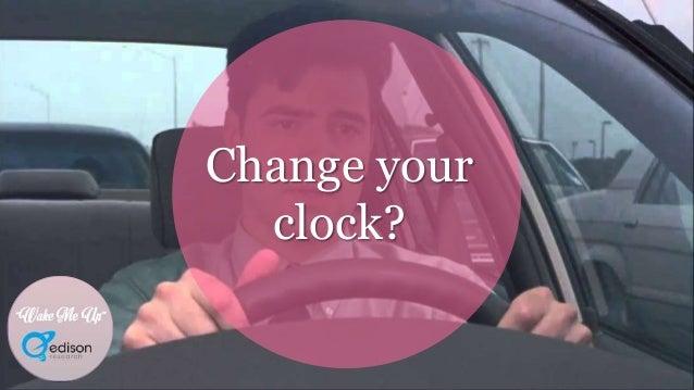 """Wake Me Up"" Change your clock? ""Wake Me Up"""