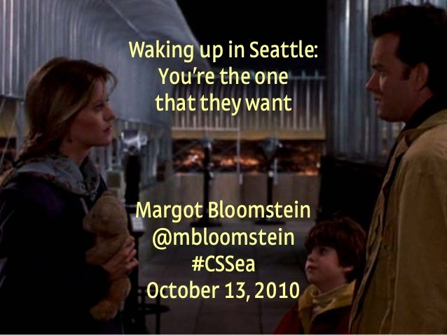 1 Appropriate, Inc. © 2010 #CSSea @mbloomstein Waking up in Seattle: You're the one that they want Margot Bloomstein @mblo...