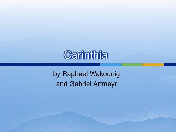 by Raphael Wakounig<br />and Gabriel Artmayr<br />Carinthia<br />
